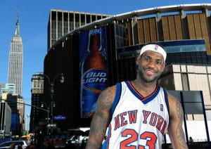 LeBron James in Knicks uniform